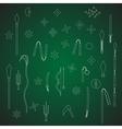 ninja weapon on green board vector image