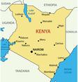 Republic of Kenya - map vector image