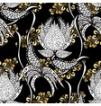 seamless classic golden pattern traditional vector image