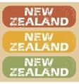 Vintage New Zealand stamp set vector image