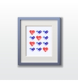 Watercolor hearts pattern vector image