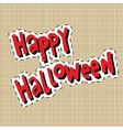 Happy Halloween label sticker vector image