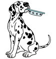 Cartoon dalmatian vector image