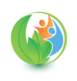 People and nature logo vector image vector image