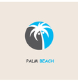 label with palm tree vector image