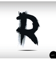 Calligraphic watercolor letter R vector image