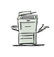 office multi-function printer sketch for your vector image