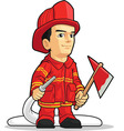 Cartoon of Firefighter Boy vector image