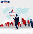 Happy independence day 4th of July Businessman vector image