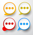 Paper set of round speech bubble vector image