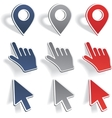 Set of different map pointers vector image
