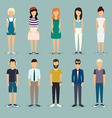 Group cartoon people Social Network and Social vector image