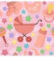 Seamless background with babys objects vector image vector image