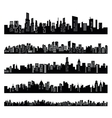 black city vector image