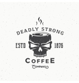Deadly Strong Coffee Company Abstract Vintage vector image