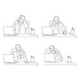 different actions and emotions of men talking vector image
