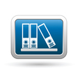 Folders on a shelf icon on blue with silver button vector image