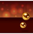 Glitter christmas balls vector image