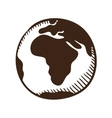 Globe earth symbol vector image