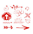hand drawn highlighter elements arrows vector image