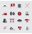 Japanese theme stickers set eps10 vector image