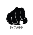 power icon silhouette vector image
