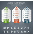 Pricing Plan Template vector image