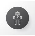 robot icon symbol premium quality isolated cyborg vector image
