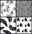 Set of japanese patterns vector image