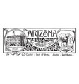 the state banner of arizona the apache state vector image