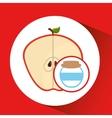 big jar jam apple icon design vector image