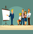 cartoon of a smart businessman vector image