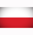 National flag of Poland vector image