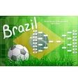 Brazil FIFA Championship tournament chart vector image vector image
