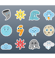 Stickers varying weather vector image vector image