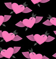 Heart and arrow symbol of love Winged heart vector image