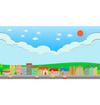 City scene at daytime vector image vector image