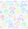 cute baby wallpaper vector image vector image