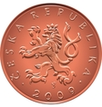 Obverse gold Money ten czech crones coin vector image