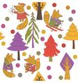 christmas fox vector image