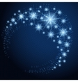glowing circle with stars vector image vector image