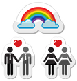 Raibnow gay couples icons vector image