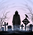 Angel of death in the cemetery vector image