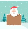 Christmas of Santa holding board vector image
