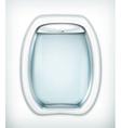 Porthole transparent glass vector image