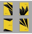 Set covers for magazine of black stripes vector image