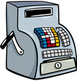 Till or cash register cartoon clip art vector image