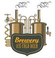 beer brewery with barrels vector image vector image