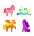 Cartoon Cute Unicorns Set vector image