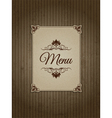 Vintage menu design vector image